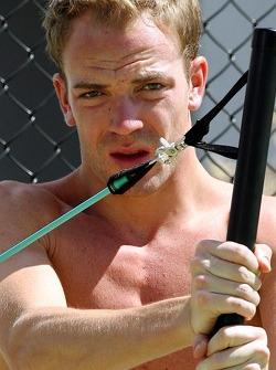Red Bull fitness training in Surfers Paradise: Robert Doornbos