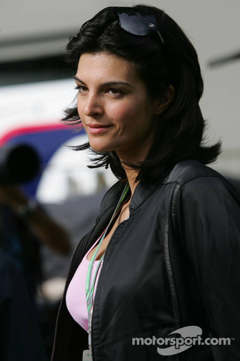 Girlfriend of David Coulthard, reporter Karen Minier