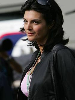 Girlfriend of David Coulthard, reporter Karen Minier