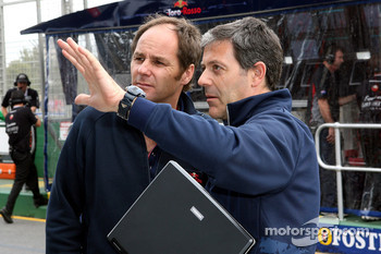 Gerhard Berger and Giafranco Fantuzzi