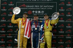 Tomas Enge (CZE), A1 team Czech Republic, Alex Yoong (MAL), A1 team Malaysia and Ryan Briscoe (AUS), A1 team Australia