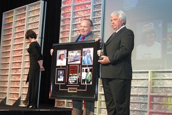Raymond Beadle accepts the Bruton Smith Legends Award