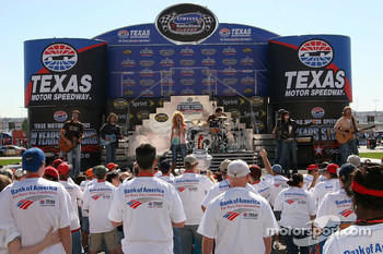 Little Big Town performs during the pre race concert