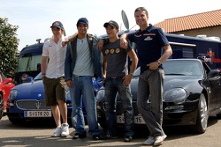 Scott Speed, Vitantonio Liuzzi, Christian Klien and David Coulthard with their new Maserati GranSport
