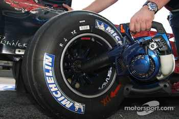Michelin tire on a Toro Rosso car