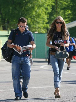 Christian Klien with his girlfriend  Franziska