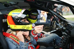 Ralf Schumacher takes wife Cora for a lap around the circuit