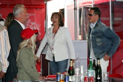 Rolf Schumacher his new wife Barbara Stahl and Michael Schumacher