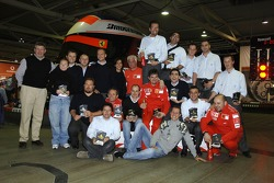 Ferrari team at the Kerpen karting circuit