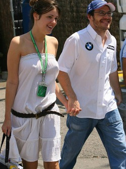 Jacques Villeneuve and his girlfriend Johanna