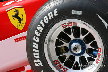 Detail shot of the Ferrari