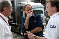 Motorsport consultant of Red Bull Helmut Marko, Gerhard Berger and Christian Horner