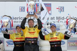 LMP2 podium: class and overall winners Timo Bernhard and Romain Dumas