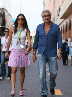 Flavio Briatore with his girfriend Eleondra Gregoracgi