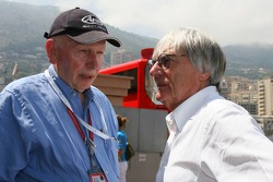 John Surtees talks with Bernie Ecclestone