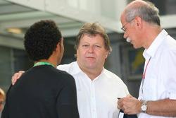 Lewis Hamilton and Norbert Haug