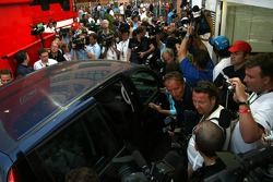 Preparations for Michael Schumacher to leave the paddock