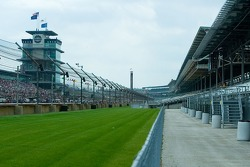 View from the front stretch