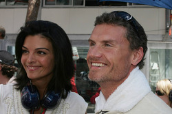 David Coulthard and girlfriend Karen Minier