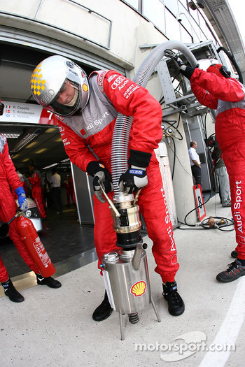 Audi Sport Team Joest team members at work
