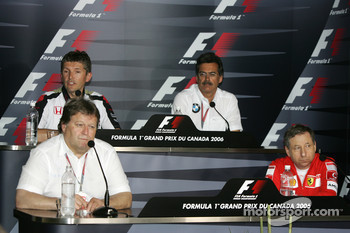 FIA press conference: Norbert Haug, Jean Todt, Nick Fry and Dr. Mario Theissen