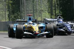 Fernando Alonso and Nico Rosberg