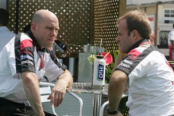Jock Clear and Rubens Barrichello