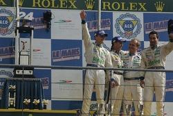 LMGT1 podium: Luc Alphand, Jérôme Policand and Patrice Goueslard