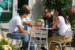 Federico Montoya, Juan Pablo Montoya, Pablo Montoya, Connie Montoya and son Sebastian