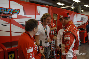 Jean Todt, Lapo Elkann and Michael Schumacher