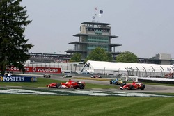 Felipe Massa leads Michael Schumacher