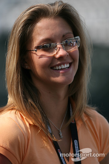 A.J. Allmendinger's fiance Lynne Kushnirenko