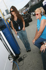 Paul Tracy's wife and mother watch the race