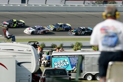 Race action at Chicagoland Speedway