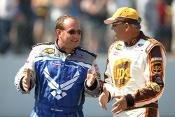 Ken Schrader talks with Dale Jarrett
