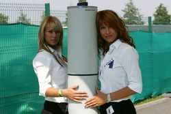 Security girls at the gate