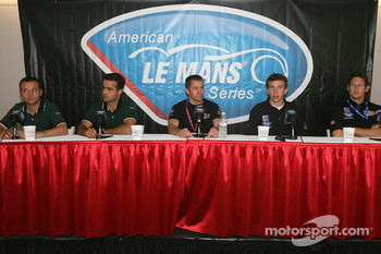 Press conference: Darren Turner, Pedro Lamy, Scott Maxwell, Tom Milner and Gunnar Jeannette