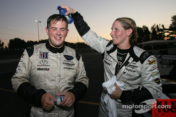 LMP2 winners Clint Field and Liz Halliday