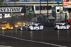 Start of race: #20 Dyson Racing Team Lola B06/10 AER: Chris Dyson, Guy Smith lead the field