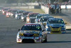 Craig Lowndes passed James Courtney after a handful of laps