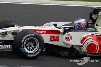 Jenson Button's maiden victory at the Hungaroring for Honda in 2006