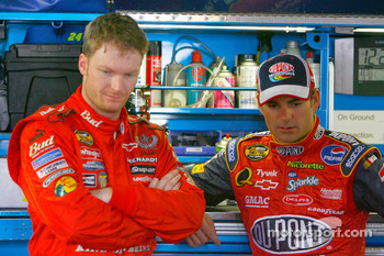 Dale Earnhardt Jr. and Jeff Gordon