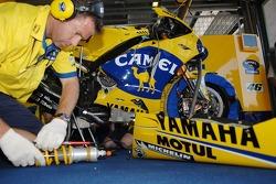 Camel Yamaha team member at work