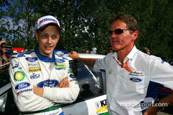 Mikko Hirvonen with Malcom Wilson