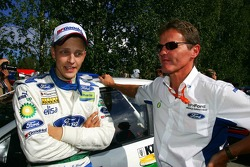 Mikko Hirvonen with Malcom Wilson