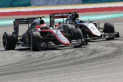 Jenson Button, McLaren Honda and Sergio Perez, Sahara Force India