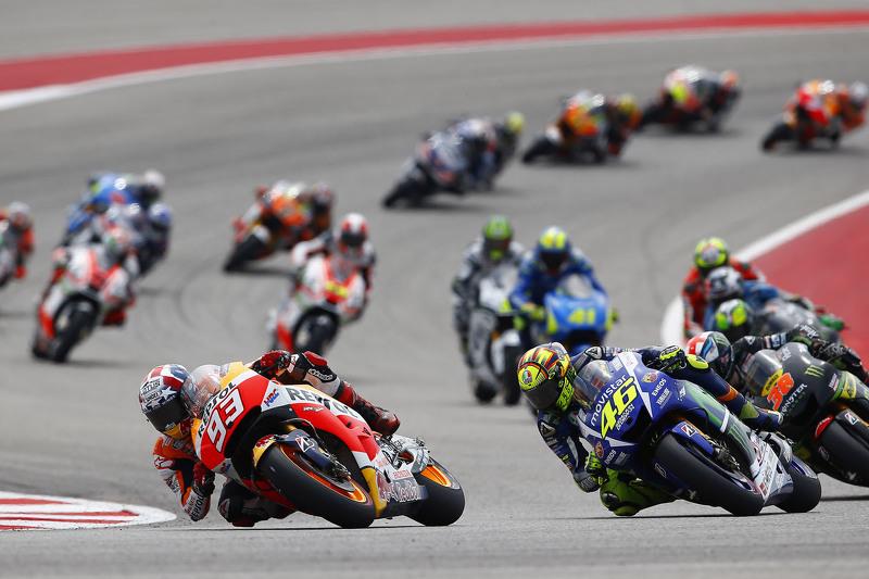 Marc Marquez, Repsol Honda Team y Valentino Rossi, Yamaha Factory Racing at GP de las Américas ...