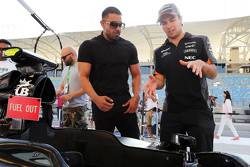 Jay Sean, Singer-songwriter and Rapper with Sergio Perez, Sahara Force India F1