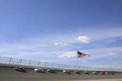 Single file racing at Talladega