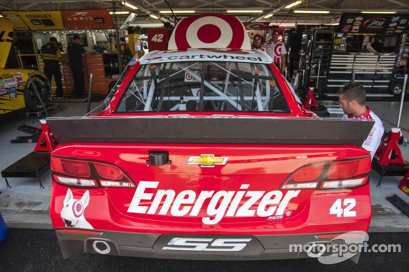 El auto de Kyle Larson Ganassi Racing Chevrolet at Kansas